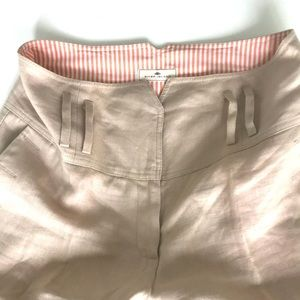 Linen tan River Island wide leg high waist pants
